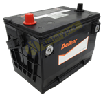 LOW PROFILE FRONT ENTRY TERMINAL 790CCA DELKOR BATTERY H2 HUMMER 0607  3 YEAR WARRANTY PRIVATE USE 12 MONTHS WARRANTY COMMERCIAL USE  L269 X W179 X H186  LHP