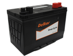 12V 100AH 680CCA HEAVY DUTY DEEP CYCLE DELKOR CALCIUM MF BATTERY 306MM L X 173MM W X 229MM H WITH DUAL POSTS  18 MONTHS WARRANTY PRIVATE USE  RHP
