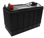 12V 110AH HEAVY DUTY DEEP CYCLE DELKOR CALCIUM MF BATTERY 330MM L X 173MM W X 234MM H WITH DUAL POSTS  12 MONTHS WARRANTY  LHP